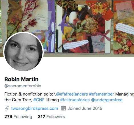 @sacramentorobin, twitter header, freelance editor, editor for hire