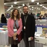 writing colleagues at the AWP Book Fair
