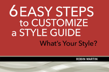 EFA booklet cover 6 Easy Steps to Customize a Style Guide by Robin Martin